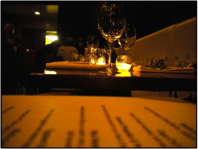 An intimate candle-lit dinner for two